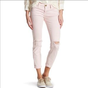 Current Elliot Dusty Pink The Stiletto Jeans